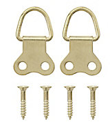 Brass-plated Large Picture hook, Pack of 4