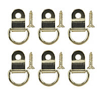 Brass-plated Small Picture hook, Pack of 6