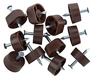 Brown Metal Shelf support (L)15mm, Pack of 12