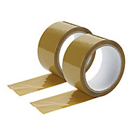 Brown Packing Tape (L)50m (W)50mm, Pack of 2