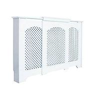 Cambridge Small - medium White Traditional Adjustable Radiator cover