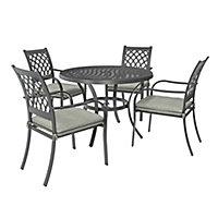 Carambole Metal 4 seater Dining set