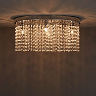 Carna Chrome effect 5 Lamp Ceiling light