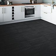 Chambly Black Matt Stone effect Porcelain Wall & floor Tile, Pack of 7, (L)600mm (W)300mm