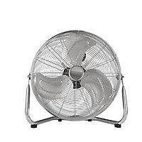 """Chrome effect 18"""" 110W Air circulation Floor fan"""