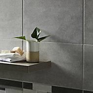 Cimenti Grey Matt Cimenti Ceramic Wall Tile, Pack of 10, (L)400mm (W)250mm