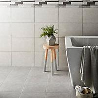 Cimenti Grey Matt Concrete effect Ceramic Wall tile, Pack of 10, (L)402.4mm (W)251.6mm, Sample