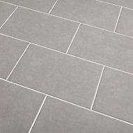 Cimenti Light grey Matt Concrete effect Ceramic Wall tile, Pack of 10, (L)402.4mm (W)251.6mm