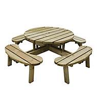 Circular Fixed Picnic table