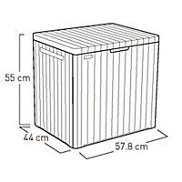 City Box Wood effect Flat Garden storage box