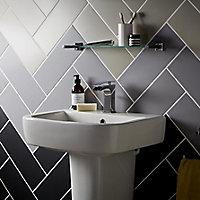 City chic Silver Matt Plain Stone effect Ceramic Wall tile, (L)400mm (W)150mm, Sample