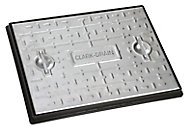 Clark Rectangular Framed 5t Manhole cover, (L)600mm (W)450mm (T)23mm
