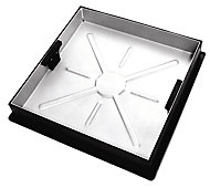 Clark Square Framed Recessed 10t Manhole cover, (L)450mm (W)580mm (T)54mm