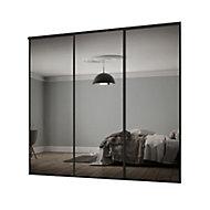 Classic Mirrored 3 door Sliding Wardrobe Door kit (H)2260mm (W)2216mm