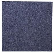 Colours Blue Loop Carpet tile, (L)500mm, Pack of 10