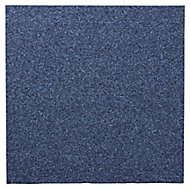 Colours Dark blue Loop Carpet tile, (L)500mm
