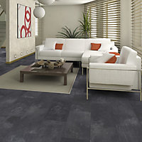 Colours Harmonia Black Slate effect Laminate flooring, 2.05m² Pack