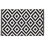 Colours Harrieta Diamond Black & white Door mat (L)0.75m (W)0.45m
