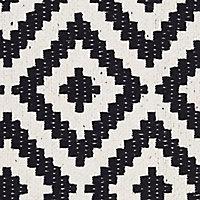 Colours Harrieta Diamond Black & white Door mat (L)0.75m (W)0.45m