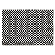 Colours Harrieta Geometric Black & white Rug (L)1.7m (W)1.2m