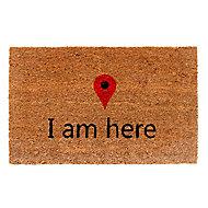 Colours Meeka Multicolour I am here Coir Door mat (L)750mm (W)450mm