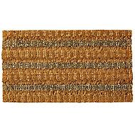 Colours Natural Door mat (L)0.7m (W)0.4m