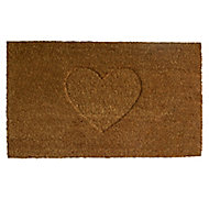 Colours Rudia Heart Natural Door mat (L)0.75m (W)0.45m