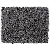 Colours Sapphire Glitter Grey Rug (L)1.6m (W)1.2m