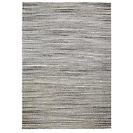 Colours Sirena Striped Grey Rug (L)1.7m (W)1.2m