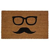Colours Uri Moustache Black & natural Door mat (L)0.75m (W)0.45m