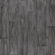 Colours Vinyl rolls Dark grey Wood effect Sheet vinyl, 6m²