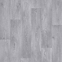Colours Vinyl rolls Light grey Wood effect Sheet vinyl, 6m²