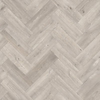 Colours Vinyl rolls Natural Herringbone Wood effect Vinyl Flooring, 4m²