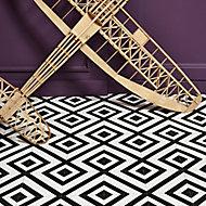 Colours Vinyl rolls White & black Mosaic Tile effect Vinyl Flooring, 4m²