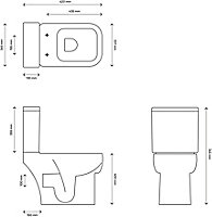 Cooke & Lewis Fabienne Close-coupled Toilet with Soft close seat