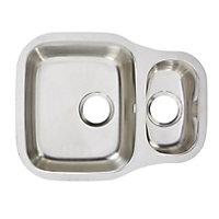 Cooke & Lewis Foucault Inox Stainless steel 1.5 Bowl Sink