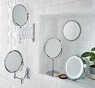 Cooke & Lewis Hayle Round Bathroom Mirror (H)310mm (W)225mm