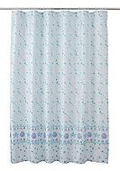 Cooke & Lewis Kololi Multicolour Seashell Shower curtain (L)1800mm