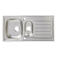 Cooke & Lewis Nakaya Inox Stainless steel 1.5 Bowl Sink & drainer