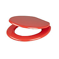 Cooke & Lewis Palmi Red Standard close Toilet seat