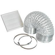 Cooke & Lewis VENTP150 Silver Cooker hood venting kit