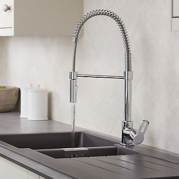 Cooke & Lewis Flinter spring neck kitchen tap