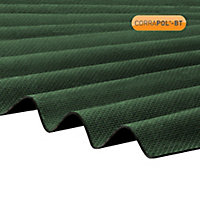 Corrapol-BT Green Bitumen Corrugated Roofing sheet (L)2m (W)930mm (T)2mm