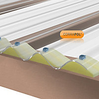 Corrapol Clear Polycarbonate Corrugated Roofing sheet (L)3m (W)950mm (T)1mm