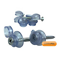 Corrapol Polycarbonate (PC) & steel Roofing screw (L)50mm, Pack of 50