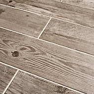 Cotage wood Beige Matt Wood effect Porcelain Wall & floor tile, Pack of 4, (L)1200mm (W)200mm