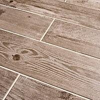 Cotage wood Beige Matt Wood effect Porcelain Wall & floor Tile Sample