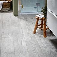 Cotage wood Grey Matt Wood effect Porcelain Floor & wall Wall & floor tile Sample
