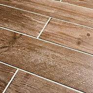 Cotage wood Light brown Matt Wood effect Porcelain Floor & wall Wall & floor tile Sample
