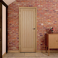 Cottage Oak veneer Internal Door, (H)1981mm (W)762mm (T)35mm